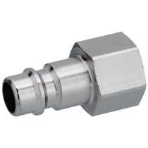 Coupling plug with internal thread