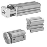 Short-stroke cylinders and compact cylinders