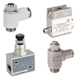 Flow valves and blocking valves